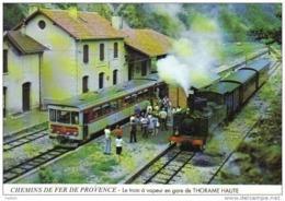 Carte Postale 04. Thorame-Haute  Le Train En Gare Trés Beau Plan - France