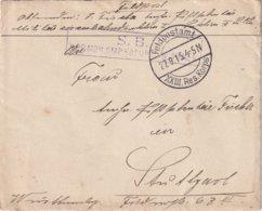 ALLEMAGNE 1915 LETTRE FELDPOSTAMT   XXIII RES.KORPS - Brieven En Documenten