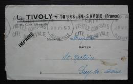 Tours-en-Savoie L. Tivoly 1953 Jolie Illustrations Intérieures, Cachet P.P Albertville, Voir Photos - Poststempel (Briefe)