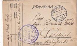 ALLEMAGNE 1917 LETTRE EN FELDPOST - Deutschland