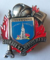 IINSIGNE POMPIERS DE LILLEBONNE - Firemen