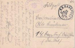 ALLEMAGNE 1917 CARTE  EN FELDPOST  K.B. BAHNPOST - Deutschland
