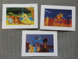 3 Cartes Postales Disney' Aladin - Altri