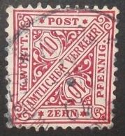 N°1560B TIMBRE ANCIENS ETATS WURTTEMBERG OBLITERE - Wurttemberg