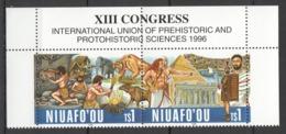 Y313 1996 NIUAFO'OU PREHISTORIC ANIMALS SCIENCE #303-4 SET MNH - Sellos