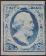 Nederland   .    NVPH   .   1  Dun Plekje  (2 Scans)   .    (*)      .  Geen Gom   .   /   .   No Gum - Periodo 1852 - 1890 (Guglielmo III)
