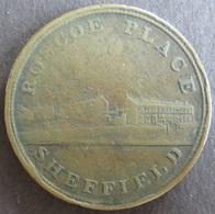 Münze Großbritannien 1812 - Token One Penny Sheffield Roscoe Place Kupfer Ss    - Grossbritannien