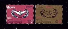 Ceylon 386-87 MH 1965 Intl Cooperation Year - Ceylon (...-1947)