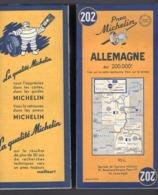 Carte Géographique MICHELIN - N° 202 ALLEMAGNE 1953 - Roadmaps