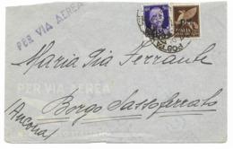 DALLA GRECIA - P.M.65 - PER BORGO SASSOFERRATO - 25.4.1942. - 1900-44 Victor Emmanuel III