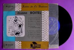 VINYLE 33 T - 11  FABLES DE LA FONTAINE PAR JEANNE BOITEL DE LA COMEDIE FRANCAISE - Kinderlieder