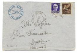 DALLA ALBANIA - P.M.70 - PER MONTEFANO - 29.8.1943. - 1900-44 Victor Emmanuel III