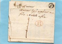 """Cursive """"VARILLES"""",lettre """"F"""",confirmée Par Corresp. De CAZAUX. - Poststempel (Briefe)"""