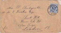 ALLEMAGNE  1891 LETTRE DE CREFELD POUR LONDRES - Deutschland