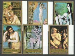 Fujeira,Art-Nudes 1972.,imperforated,MNH - Fujeira