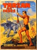 """CINEMA - Affichette Du Film """" TARZAN Aux INDES """" Réalisé En 1962 Par John Guillermin Avec Jock Mahoney - TBE - Manifesti & Poster"""