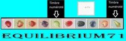 R145/157**(4800/4809) Fruits/Fruiten 10 Timbres GRANDES DENTS/ 10 Zegels GROOTE TANDEN (3 Chiffres/3 Cijfers) - 1 - Francobolli In Bobina