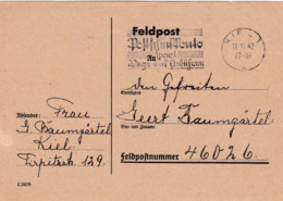 Feldpost Kiel 1942 - Germany