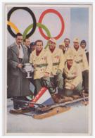 DT- Reich (001599) Winter-Olympia 1932 Sammelbild Nr. 196, Der Deutsche Weltmeister Zahn überreicht Der Siegreichen - Verano 1932: Los Angeles