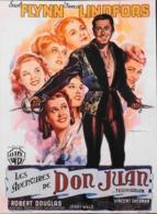 """CINEMA - Affichette Du Film """" Les Aventures De DON JUAN """" Réalisé Par Vincent Sherman Avec Errol Flynn - 1948 - TBE - Manifesti & Poster"""