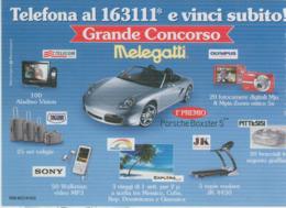 """MELEGATTI,""""GRANDE CONCORSO"""" 10/07-02/08,LOTTERIA AD ESTRAZIONE NUMERO, - Biglietti Della Lotteria"""