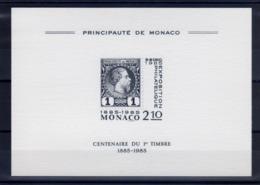 """A L'OCCASION DE L'EXPO 1985 A MONACO-EMISSION D'UNE CP """" Centenaire Du 1er Timbre-1885 / 1985 """" - Commemorative Labels"""