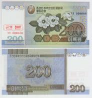 Korea North 200 Won 2005 Pick 48S UNC 0000000 - Korea, Noord