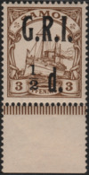 ~~~ Deutsche Kolonien Samoa GRI 1914 - Kaiseryacht - Mi. 1 * MH UR  ~~~ - Colony: Samoa