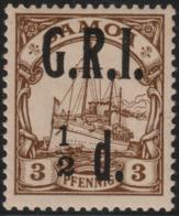 ~~~ Deutsche Kolonien Samoa GRI 1914 - Kaiseryacht - Mi. 1 * MH ~~~ - Colony: Samoa