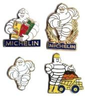 ACCESSOIRES AUTO Et AUTRES - AA11 - MICHELIN - PNEUS - 4 Modèles Différents - Verso : FRAISSE/ARTHUS BERTRAND/SM/FRAISSE - Otros