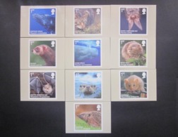 2010 'ACTION FOR SPECIES' ( 4th SERIES ). MAMMALS STAMPS P.H.Q. CARDS UNUSED, ISSUE No. 335 - 1952-.... (Elizabeth II)