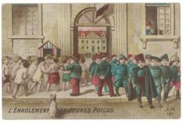 L'enrolement Des Jeunes Poilus ( Bébés Multiples ), Soldats  ( MI ) - Patriottiche