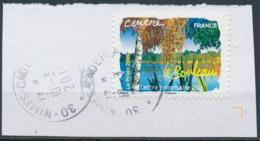 France - Flore Des Régions / Centre, Le Bouleau YT A293 Obl. Cachet Rond Sur Fragment - Adhésifs (autocollants)