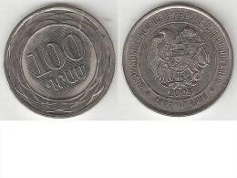Armenia 100 Drams 2003 Km 95  Unc - Armenia