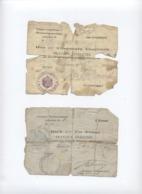 2 BON TRAVAUX 1915 ETAT   --RECTO/VERSO - Y1 - 1914-18