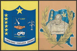 R.D.CONGO - 2 BLOCS N°133/4 ** (1998) 1er Anniversaire De L'indépendance - República Democrática Del Congo (1997 - ...)