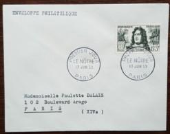 FDC 1959 - YT N°1208 - LE NOTRE - PARIS - FDC