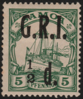 ~~~ Deutsche Kolonien Samoa GRI 1914 - Kaiseryacht - Mi. 2 * MH - CV 60 Euro ~~~ - Colony: Samoa