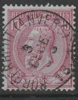 COB N° 46 Obl. Borgerhout (Anvers) - 1884-1891 Léopold II
