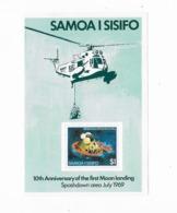 Samoa Bloc Feuillet  N° 18**  L'amerrissage - Samoa
