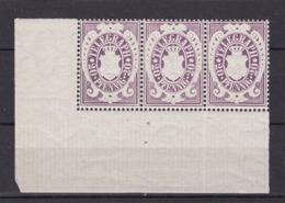 Bayern - 1876 - Telegrafenmarken - Michel Nr. 17 - Eckranddreierstreifen - Postfrisch - Bayern