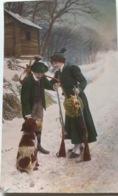 (1304) Jagerskoppel - Jachthond Brengt Een Patrijs - Hij Draagt Een Haas Op Zijn Rug - Couples