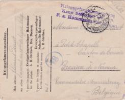Kriegsgefangenen Soltau>Petite-Chapelle (Namur) Belgien 1916 - Deutschland
