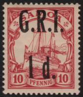 ~~~ Colonies Allemand Samoa GRI 1914 - Kaiseryacht - Mi. 3 * MH - CV 150 Euro ~~~ - Colony: Samoa