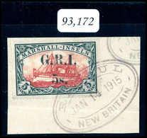 Briefst. Deutsche Kolonien Marshall Brit. Besetzung - Francobolli