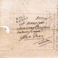 AUDE   P 10 P Azille  1819  LAC - Poststempel (Briefe)
