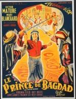"""CINEMA - Affichette Du Film """" LE PRINCE De BAGDAD """" Réalisé Par George Sherman Avec Victor Mature ,Sorti En 1953 - TBE - Manifesti & Poster"""