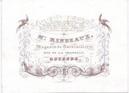 Carte Porcelaine - Porseleinkaart -  Ostende - Mme Ribeaux Magasin De Quincaillerie Rue De La Chapelle - Oostende