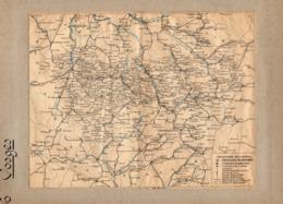 2 Cartes  Télégraphique Téléphonique &des Chemins Fer Dept 88VOSGES 89YONNE Année1936 Collée Recto Verso - Europe