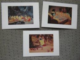 3 Cartes Postales Disney' Blanche Neige - Disney